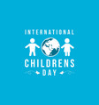 background childrens day design collection vector image vector image