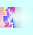 background with rectangle gradient elements vector image vector image