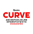 bezier curves style font vector image vector image