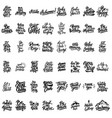 big set of hand lettering motivational isolated vector image vector image