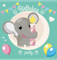 birthday party invitation vector image