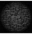 BIRTHDAY vector image vector image