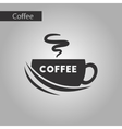 black and white style coffee cup vector image vector image