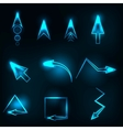blue abstract glowing arrows vector image