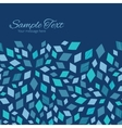 Blue Mosaic Texture Horizontal Frame vector image vector image
