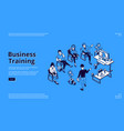 business training isometric landing page education vector image vector image