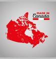 canadian map silhouette icon vector image