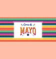 cinco de mayo - may 5 federal holiday in mexico vector image vector image