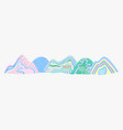 color decorative mountain or hill vector image