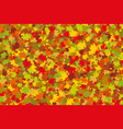 colorful leaves silhouette background vector image