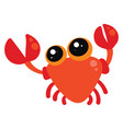 cute crab on white background vector image vector image