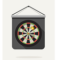 Dart with dartboard Flat design vector image