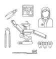 Dentist profession icons and symbols vector image vector image