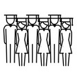 education people pictogram cartoon vector image