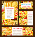 fast food restaurant posters templates vector image vector image