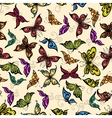 Flying tropical butterflies seamless pattern vector image vector image