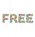 free word consisting colored particles vector image