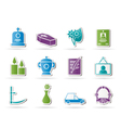 funeral and burial icons vector image vector image