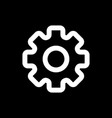 gear icon black and white gears vector image vector image