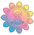 girl in a circle of mandala vector image vector image