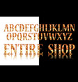 gold 3d broadway alphabet vector image vector image