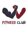 gym fitness emblem labels badges logo vector image vector image