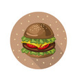 hamburger logo background vector image