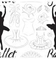 Hand drawn Ballet pattern vector image vector image