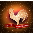 Happy New Year 2017 background with gold shiny vector image