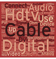 hdtv cables2 text background wordcloud concept vector image vector image