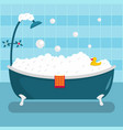 home bathroom icon flat style vector image vector image