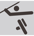 Javelin throw icon vector image