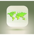 Map icon for application on air background Grid vector image vector image