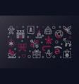 merry christmas creative xmas vector image
