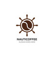 nautical with coffee logo designs inspirations vector image vector image