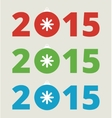 New year 2015 lettering vector image vector image