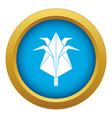 origami flower icon blue isolated vector image