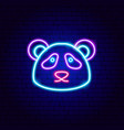panda neon sign vector image