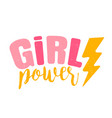 retro emblem girl power vector image vector image