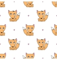 seamless pattern foxes vector image
