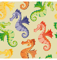 seamless rainbow sea horse vector image vector image