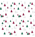 seamless simple winter forest pattern vector image vector image