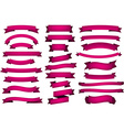 Set of fuchsia ribbons vector image vector image