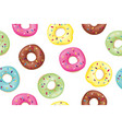 set of sweet donuts vector image vector image