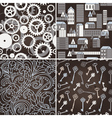 set retro seamless patterns vector image vector image