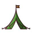 shelter tent icon vector image
