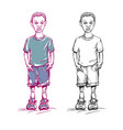 sketch colored african-american boy vector image