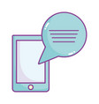 smartphone and speech bubble chat message icon vector image