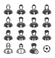 Soccer Player Icons vector image