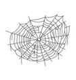 spiderweb line art icon spooky halloween spider vector image vector image